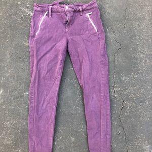 Zipper Pocket Purple Jeans